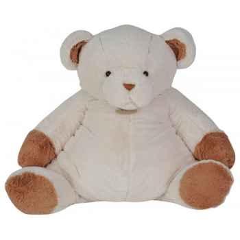 Peluche ours chocolat blanc 80 cm histoire d\'ours 2090