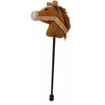 Peluche baton cheval - cheval beige avec chapeau histoire d\'ours 2117