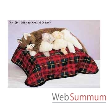 Automate - chats dans un panier Automate Décoration Noël 74