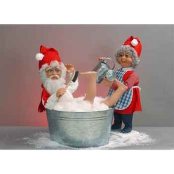 Automate - père noël prenant un bain Automate Décoration Noël 105