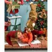 automate garcon en costume de noeet teddy bear automate decoration noe150