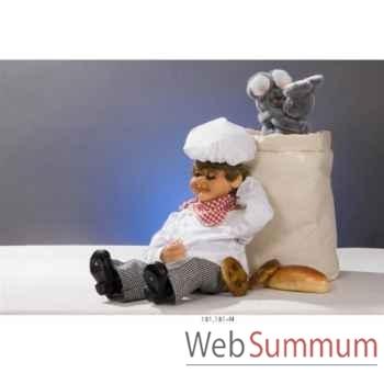 Automate - boulanger assis et assoupi Automate Décoration Noël 181