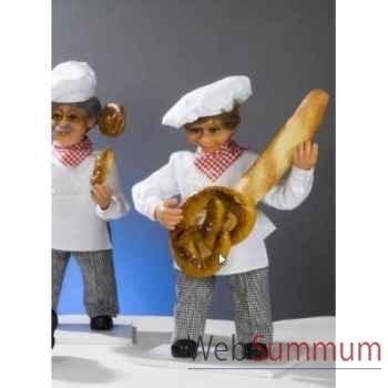 Automate - boulanger jouant de la guitare Automate Décoration Noël 182