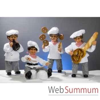 Automate - boulanger avec corne d'abondance Automate Décoration Noël 184