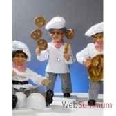 automate boulanger jonglant avec des bretzels automate decoration noe185