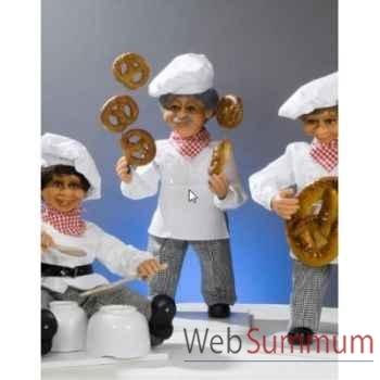 Automate - boulanger jonglant avec des bretzels Automate Décoration Noël 185