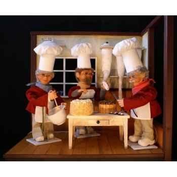Automate - pâtissier avec une poche à douille Automate Décoration Noël 193