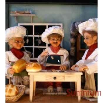 Automate - boulanger avec pinceau à pâtisserie Automate Décoration Noël 196