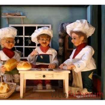 Automate - boulanger avec rouleau à pâtisserie Automate Décoration Noël 197