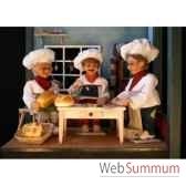 automate boulanger assis avec un pain automate decoration noe198