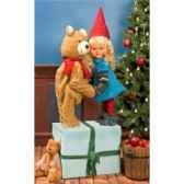 automate fille pere noeet teddy bear automate decoration noe268