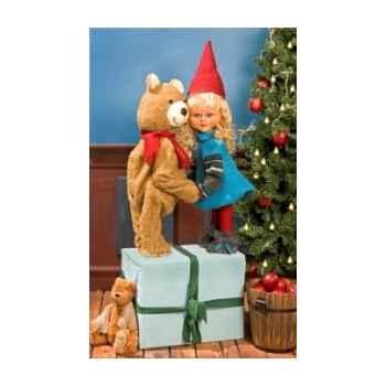Automate - fille père noël et teddy bear Automate Décoration Noël 268