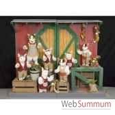 automate chevre et 6 enfants dansants automate decoration noe278