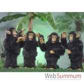 automate 4 chimpanzes dansant automate decoration noe280