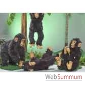 automate chimpanze assis applaudissant automate decoration noe287