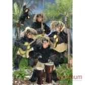 automate chimpanze jouant des bongos automate decoration noe289