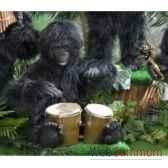 automate gorille jouant des bongos automate decoration noe294