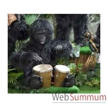 Automate - gorille jouant des bongos Automate Décoration Noël 294