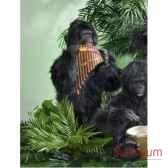 automate gorille jouant de la flute de pan automate decoration noe297