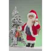 automate pere noeavec cadeaux et sac automate decoration noe300