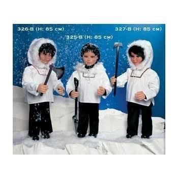 Automate - esquimau avec une hache Automate Décoration Noël 326