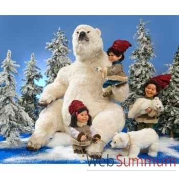 Automate - grand ours polaire assis Automate Décoration Noël 333