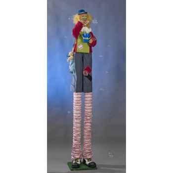 Automate - clown soufflant des bulles de savon Automate Décoration Noël 355