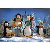 automate orchestre de pingouins 4 personnages automate decoration noe385