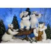 automate orchestre d ours polaires 4 personnages automate decoration noe390