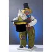 automate clown tirant un lapin d un chapeau automate decoration noe416