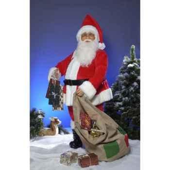 Automate - père noël avec un sac Automate Décoration Noël 501