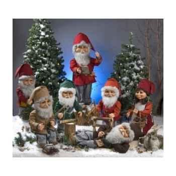 Automate - lutin du père noël sciant du bois Automate Décoration Noël 558