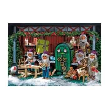 Automate - lutin du père noël avec des jouets Automate Décoration Noël 574