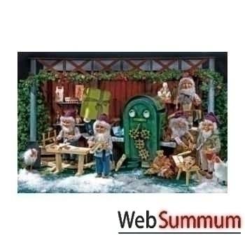 Père-noël dans la machine à jouet Automate Décoration Noël 575