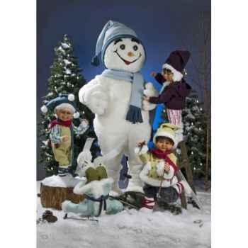 Automate - fillette sur une échelle Automate Décoration Noël 581