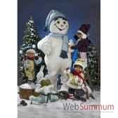 automate garcon tombant tete la premiere dans la neige automate decoration noe583