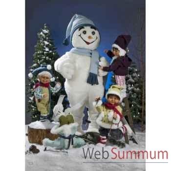 Automate - garçon tombant tête la première dans la neige Automate Décoration Noël 583