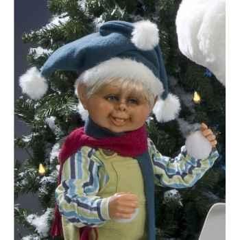 Automate - garçon aux boules de neige Automate Décoration Noël 584