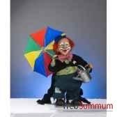 automate clown avec parapluie et arrosoir automate decoration noe652
