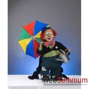 Automate - clown avec parapluie et arrosoir Automate Décoration Noël 652