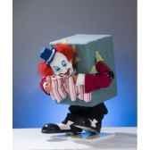 automate clown coince dans un carton automate decoration noe653