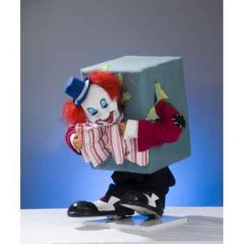Automate - clown coincé dans un carton Automate Décoration Noël 653