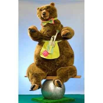 Automate - ours de cirque sur balançoire Automate Décoration Noël 654
