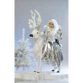 automate reine des neiges sur un renne blanc automate decoration noe678