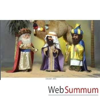 Automate - roi mage portant une couronne Automate Décoration Noël 692