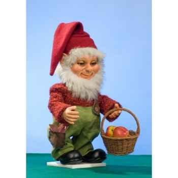 Automate - lutin de noël avec panier de pommes Automate Décoration Noël 745