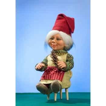 Automate - mère lutin de noël avec pomme de pin Automate Décoration Noël 746