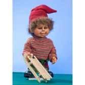 automate garcon en costume de noeen traineau automate decoration noe747