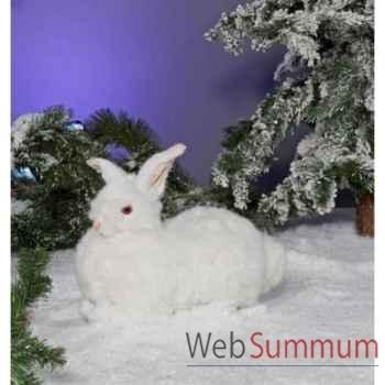 Automate - lapin blanc, couché, tournant la tête Automate Décoration Noël 780