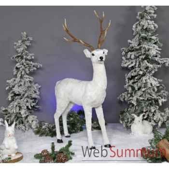 Automate - cerf blanc Automate Décoration Noël 813